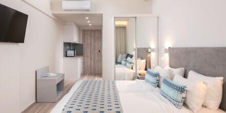 Renoverad enrumslägenhet på hotell Bio i Rethymnon stad på Kreta.