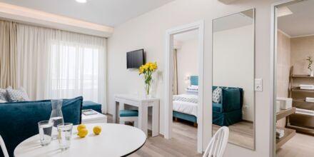 Renoverad tvårumslägenhet på hotell Bio i Rethymnon stad på Kreta.