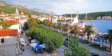Utsikt från hotell Biovoko i Makarska, Kroatien.