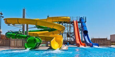 Vattenparken på Blue Lagoon Resort på Kos, Grekland.
