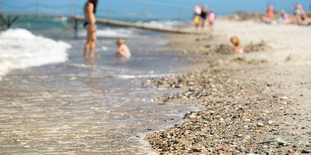 Stranden vid hotell Blue Lagoon Resort på Kos, Grekland.