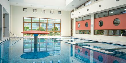 Inomhuspool på hotell Blue Lagoon Resort på Kos, Grekland.
