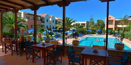Snackbar på Blue Sea Apartments på Kreta, Grekland.