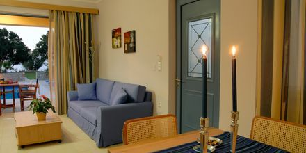 Vardagsrum på hotell Blue Sea Villas i Platanias, Kreta.