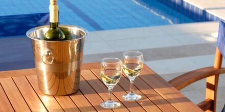 Privat pool på hotell Blue Sea Villas i Platanias, Kreta.