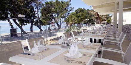 Strandbaren på hotell Bluesun Alga i Tucepi, Kroatien.
