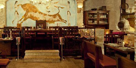 Taverna på hotell Bluesun Elaphusa, Brac i Kroatien.