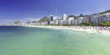 Copacabana-stranden i Rio de Janeiro.