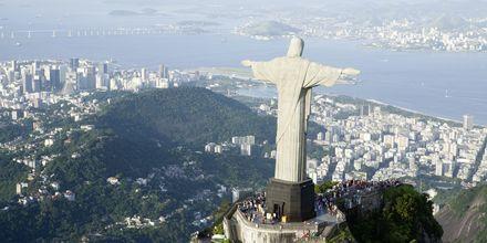 Den berömda Jesusstatyn i Rio.