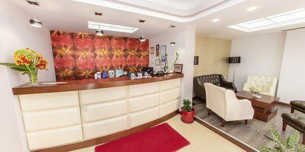 Reception på hotell Brilant i Saranda, Albanien.