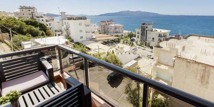 Balkong på hotell Brilant i Saranda, Albanien.