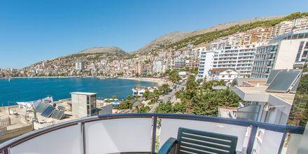 Utsikt från hotell Brilant i Saranda, Albanien.