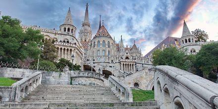 Fiskarbastionen i Budapest, Ungern.