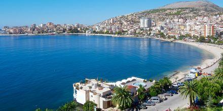 Utsikten från hotell Butrinti i Saranda, Albanien.