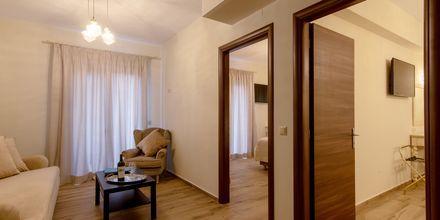 Trerumslägenhet på hotell Byzantion i Parga, Grekland.