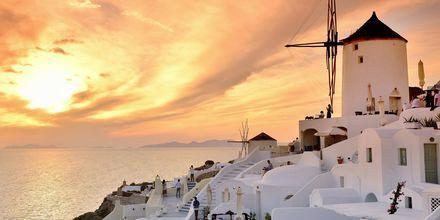 Oia på Santorini, Grekland.