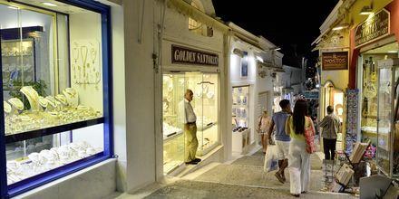 Fira på Santorini i Grekland.