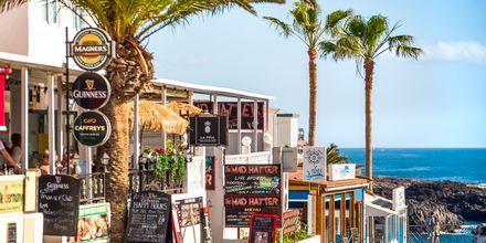 Restauranger nära havet i Callao Salvaje på Teneriffa, Kanarieöarna.