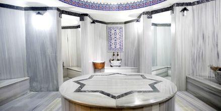 Hamam på hotell Can Garden Beach i Side, Turkiet.