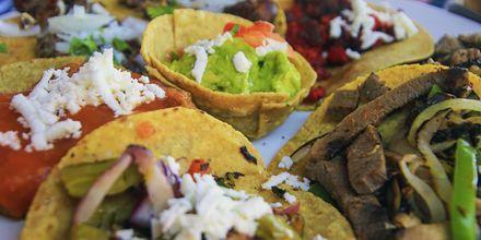 Tacos i Cancun, Mexiko.