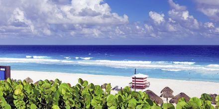 Playa Delfines i Cancun, Mexiko.