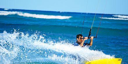 Kitesurfing i Cancun på Riviera Maya.