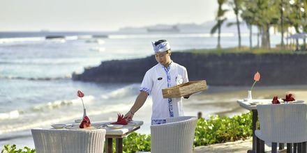 Restaurang på Candi Beach Resort & Spa, Bali.