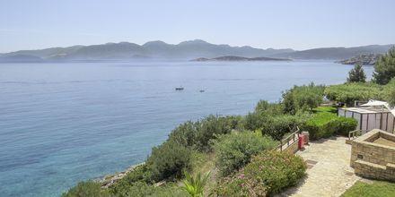 Utsikten från hotell Candia Park Village i Agios Nikolaos på Kreta.
