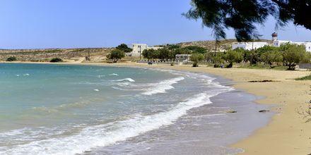 Närmaste strand till hotell Captain Nicolas i Naoussa på Paros, Grekland.