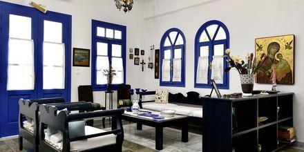 Lobby på hotell Captain Nicolas i Naoussa på Paros, Grekland.