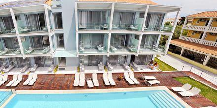 Nybyggd hotellbyggnad, Captain Stavros på Lefkas, Grekland.