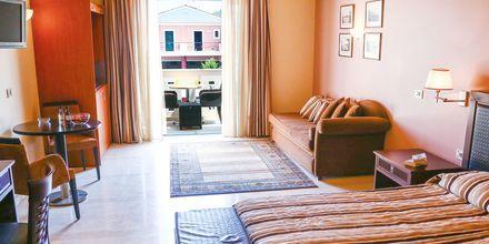 Enrumslägenhet på hotell Captain Stavros på Lefkas, Grekland.