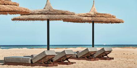 Stranden vid hotell Casa Cook El Gouna i Egypten.