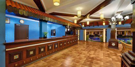 Lobbyn på hotell Casa de Goa, Indien.