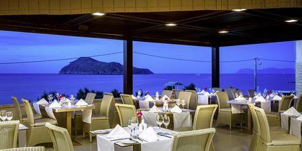 Restaurangen på hotell Plaza di Porto i Platanias, Kreta.