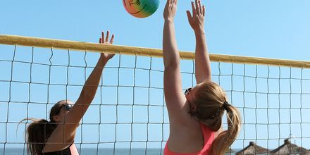 Beach volley på hotell Cavo Spada Deluxe & Spa, på Kreta, Grekland.