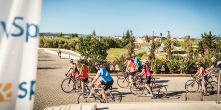 Följ med på någon av de arrangerade cykelturerna från Cavo Spada Deluxe & Spa.
