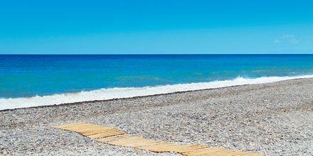 Stranden vid hotell Cavo Spada Deluxe & Spa, på Kreta, Grekland.