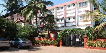 Entré på hotell Chalston Beach Resort i Goa, Indien.