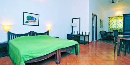 Dubbelrum på hotell Chalston Beach Resort i Goa, Indien.