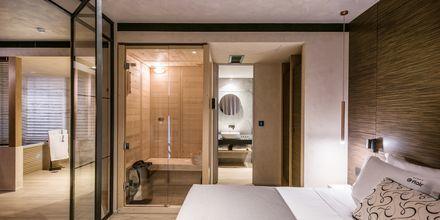 Tvårumssvit på hotell Chania Flair på Kreta, Grekland.