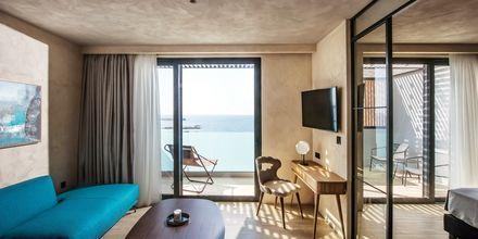 Penthouse svit på hotell Chania Flair på Kreta, Grekland.