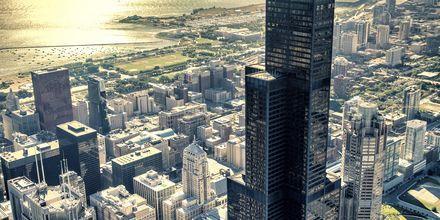 Utsikt över Chicagos skyskrapor