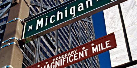 The Magnificient Mile utlovar shopping för alla smaker. Chicago, USA.