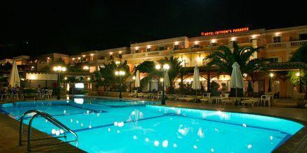 Poolen på hotell Chrithonis Paradise på Leros, Grekland.