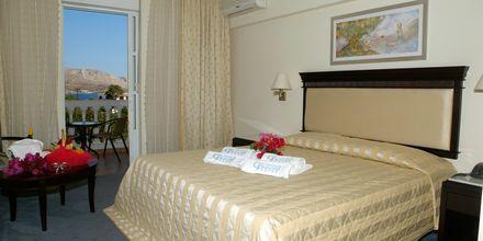 Dubbelrum på hotell Chrithonis Paradise på Leros, Grekland.
