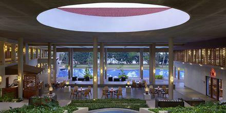 Lobby på hotell Cinnamon Bey Beruwala i Bentota, på Sri Lanka.