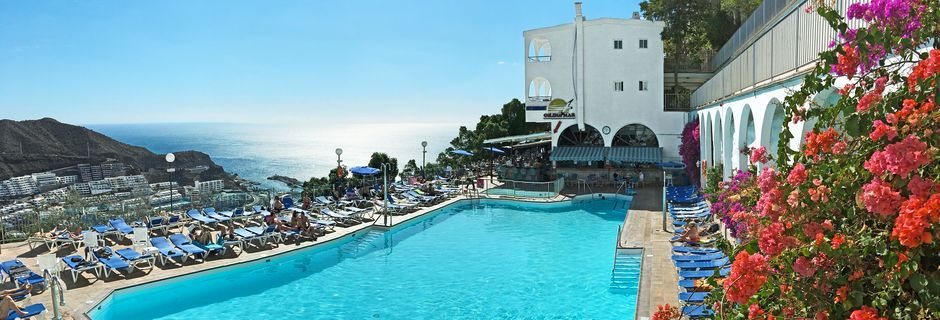 Pool på hotell Colina Mar i Puerto Rico, Gran Canaria.