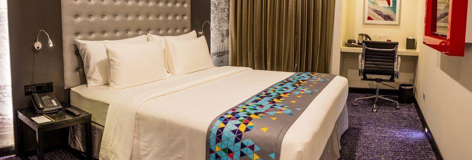 Dubbelrum på hotell Z Max Fairway 9 Colombo på Sri Lanka.
