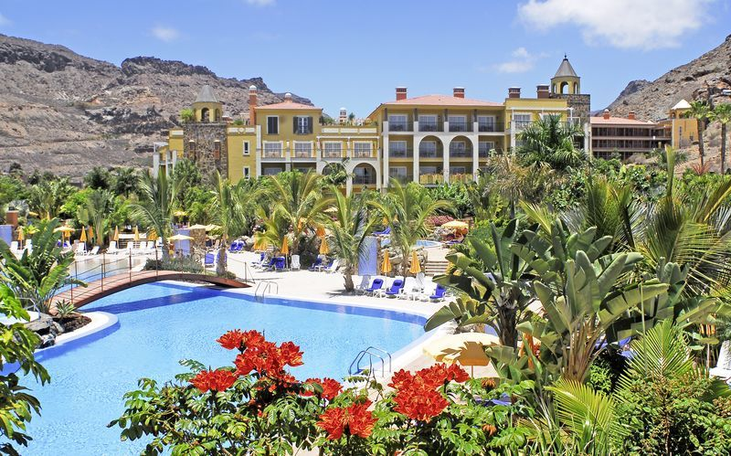 Poolområde på Cordial Mogan Playa i Puerto Mogán, Gran Canaria.